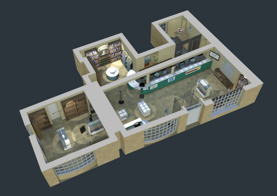 3D visualisation of office and retail space