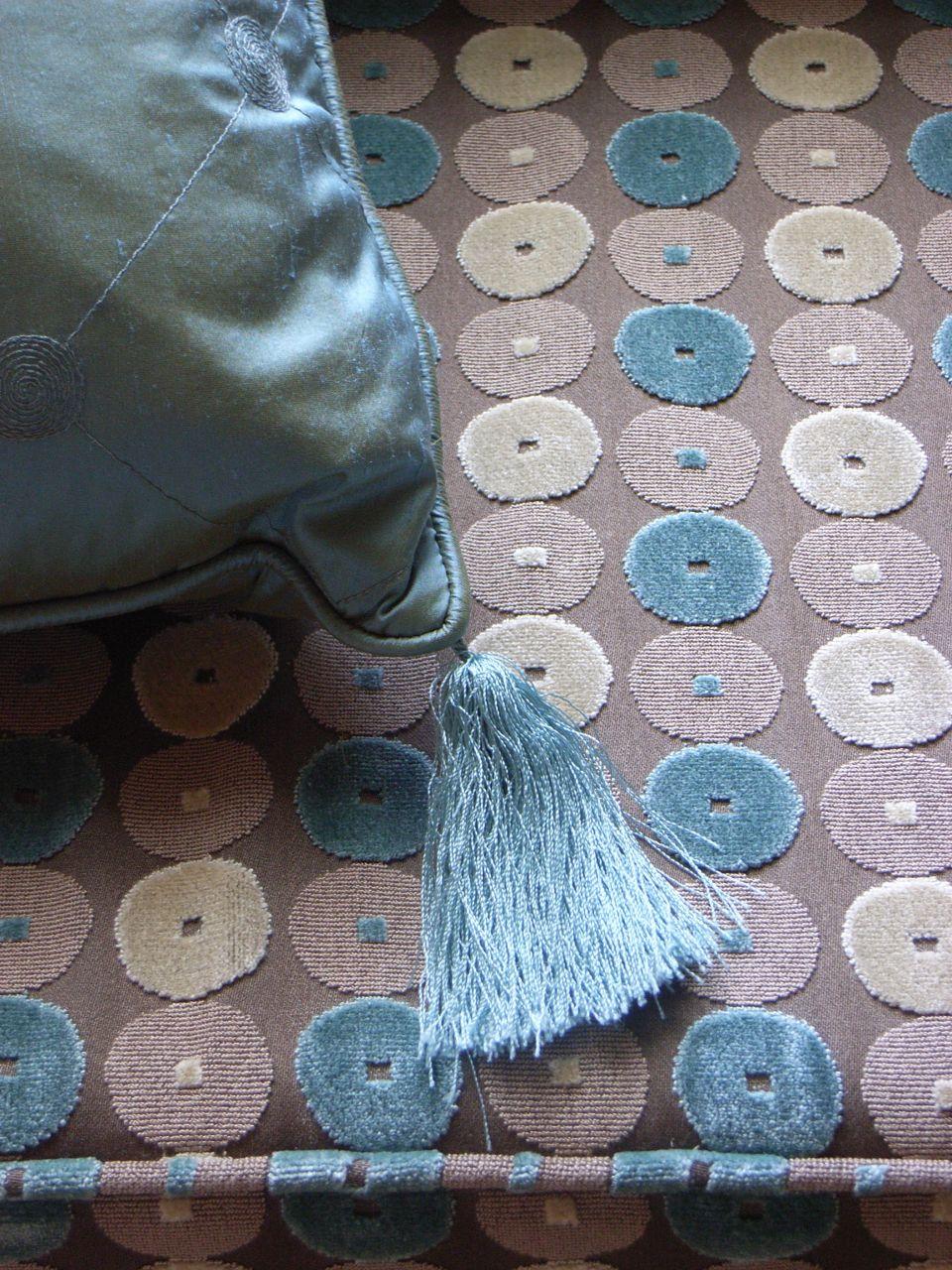 luxury chenille and silk fabrics - classic but contemporary
