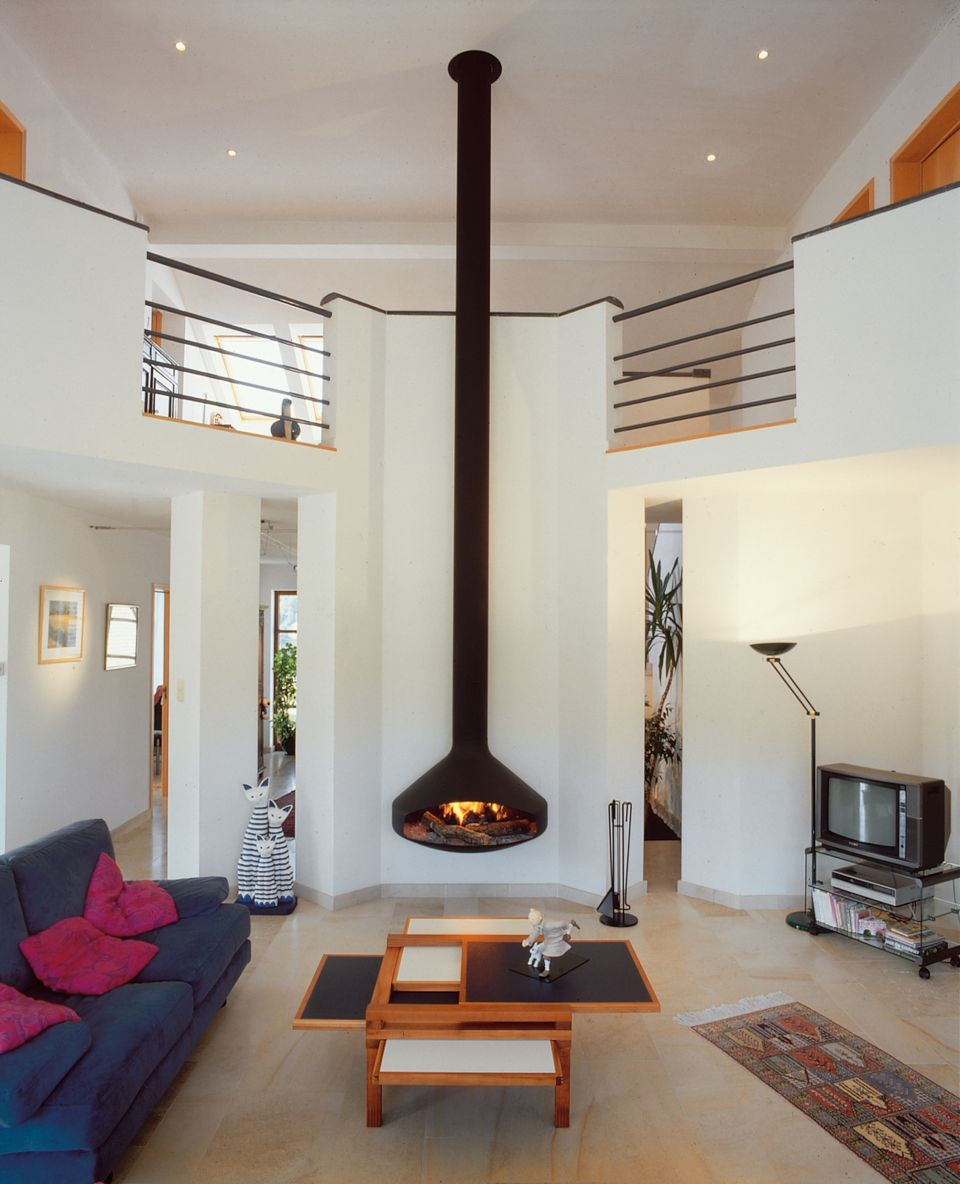 contemporary designer fireplace