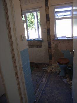 Rip out bathroom