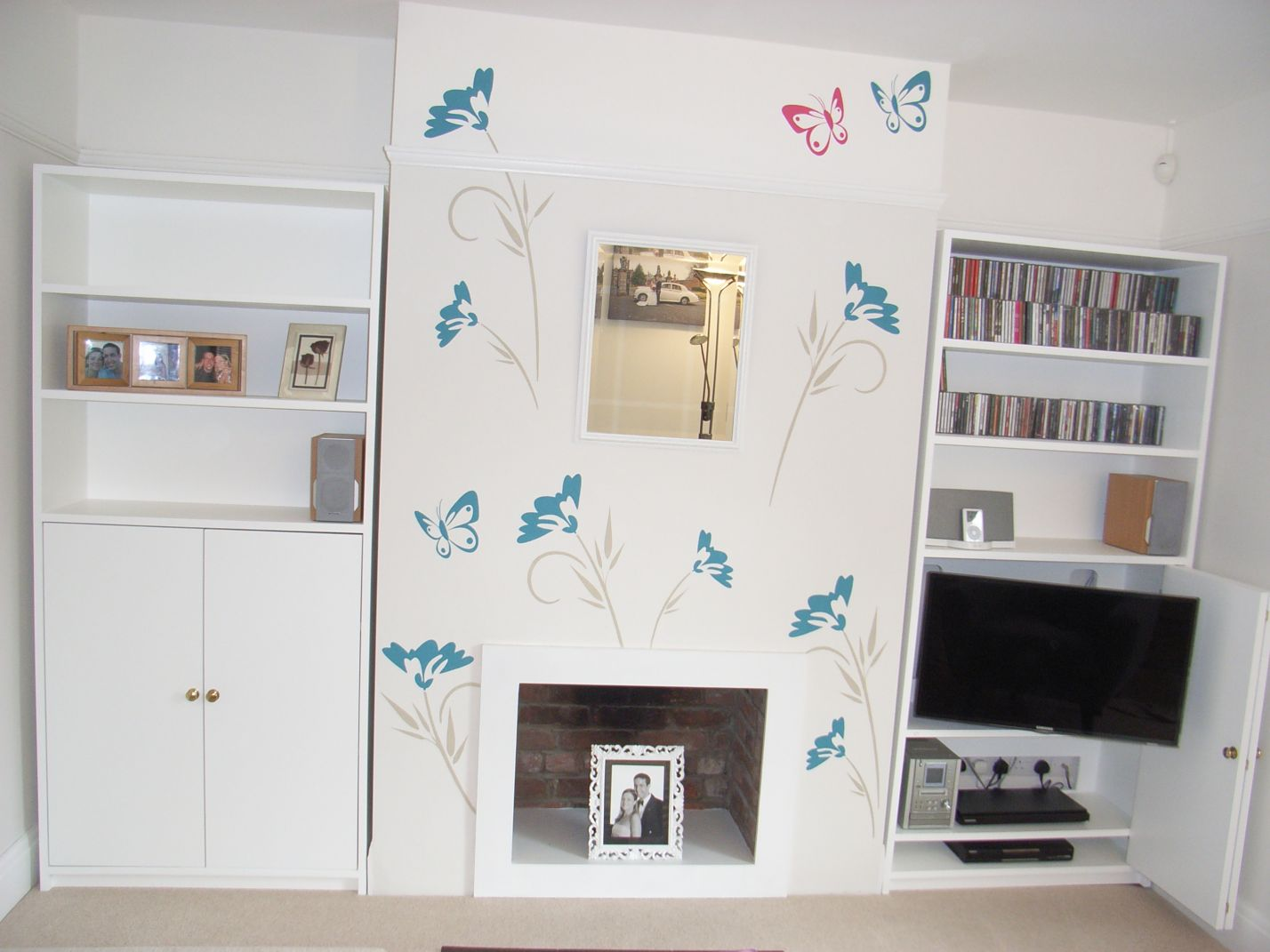 freestanding bespoke storage alcove units