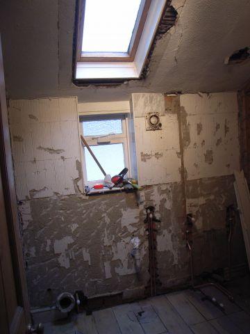 bathroom undergoing renovation