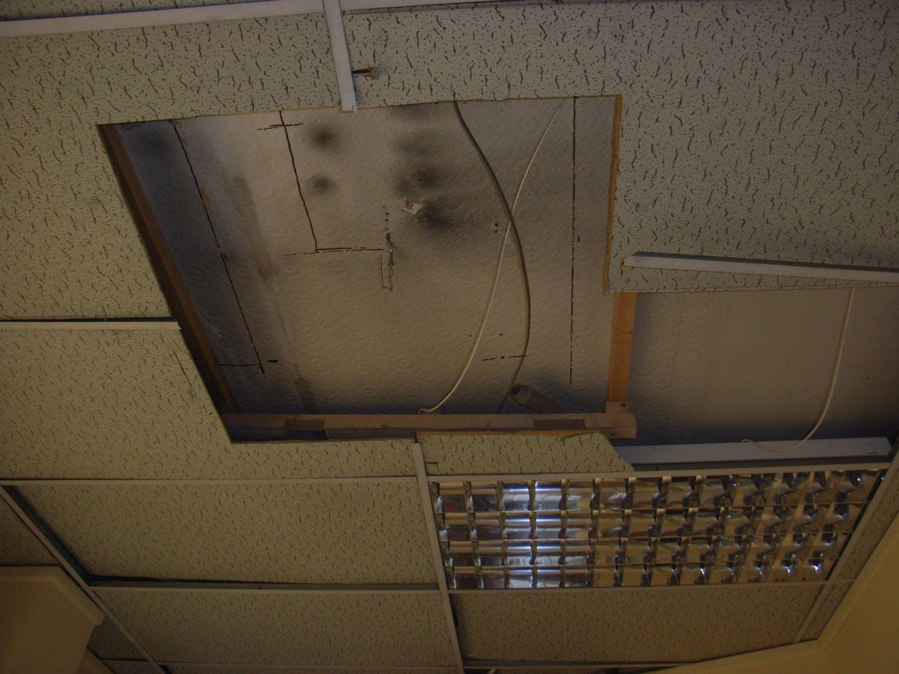 ceiling needs repair