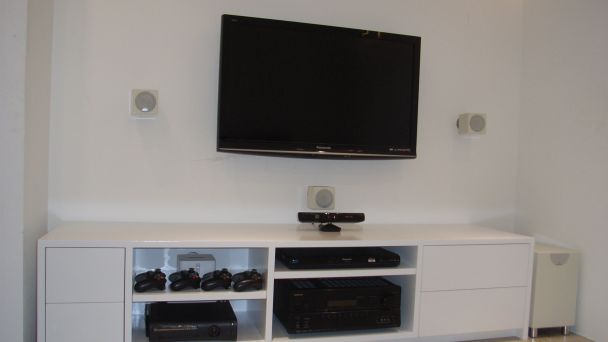 How To Hide A TV Custom Made TV And Hifi Cabinet ...