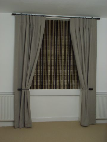 dress curtains with blinds