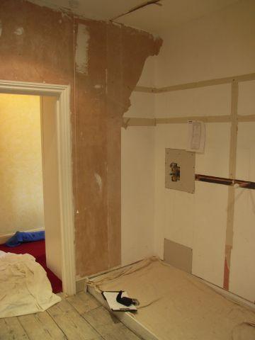 en suite undergoing refurbishment