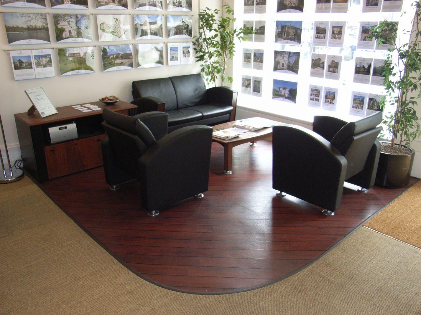 estate agent office break out area