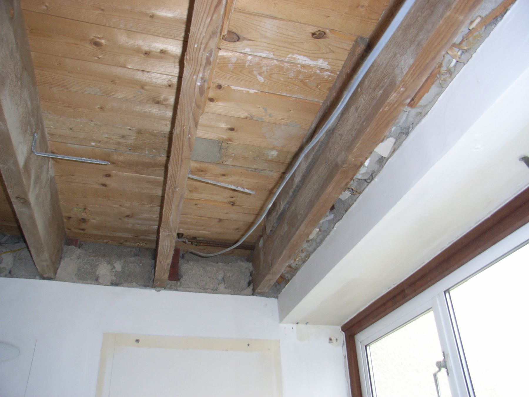 exposed ceiling for services