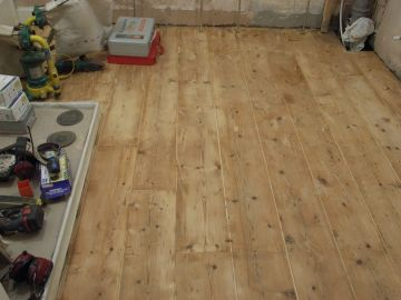 floorboards after stripping