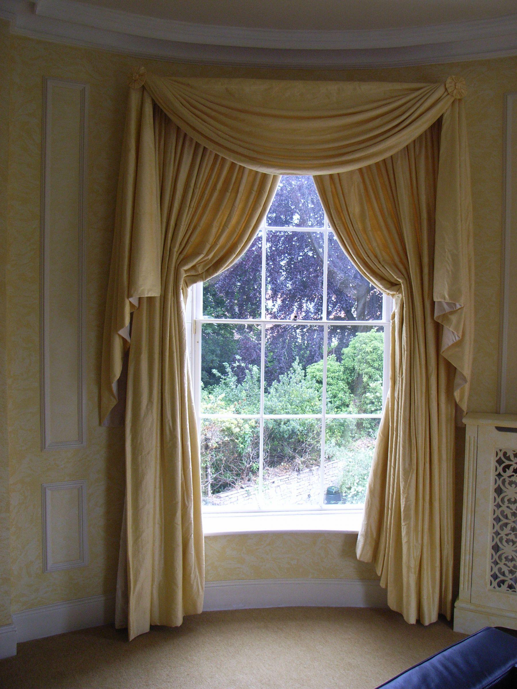 heavy silk curtains
