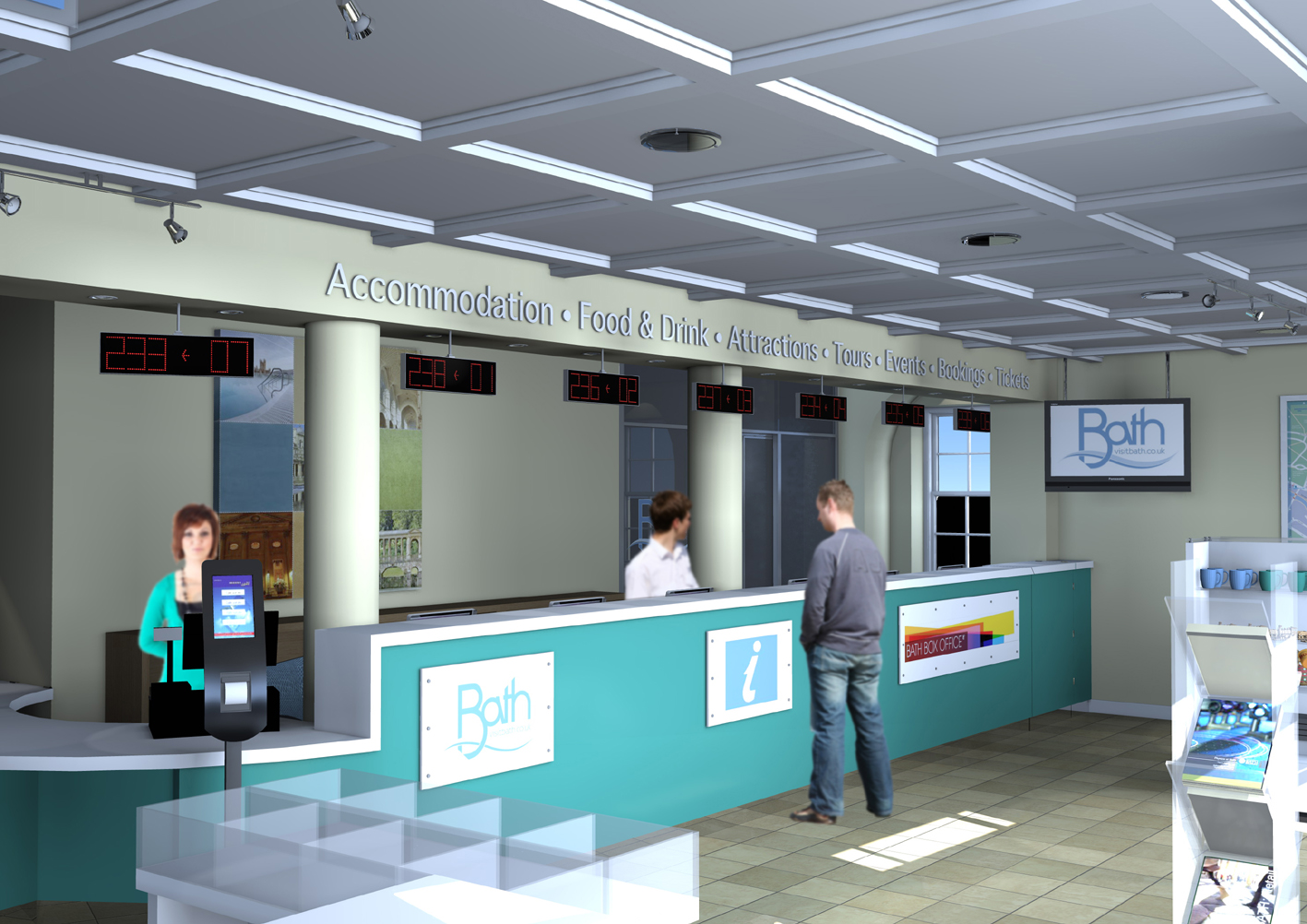 information office counter design