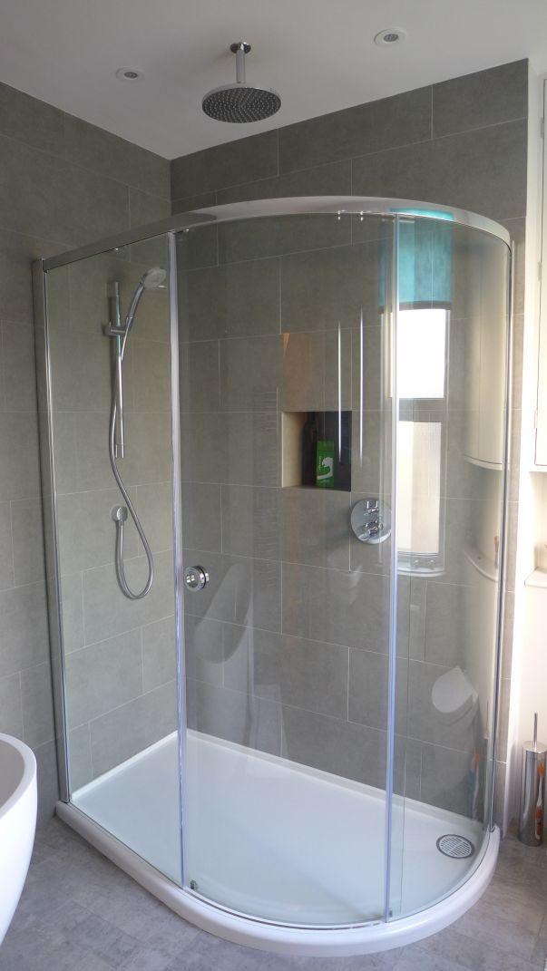 low profile shower tray offset quadrant