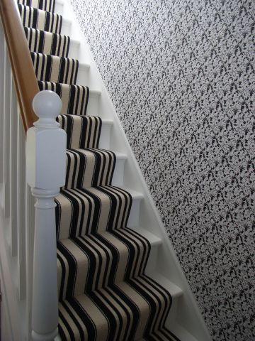 monochrome stairwell