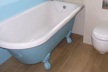 painted freestanding bath