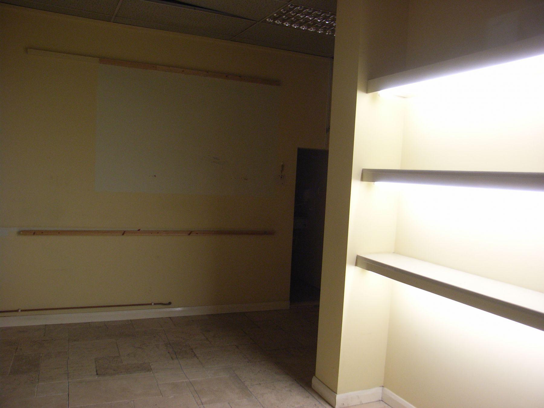 rear of empty shop