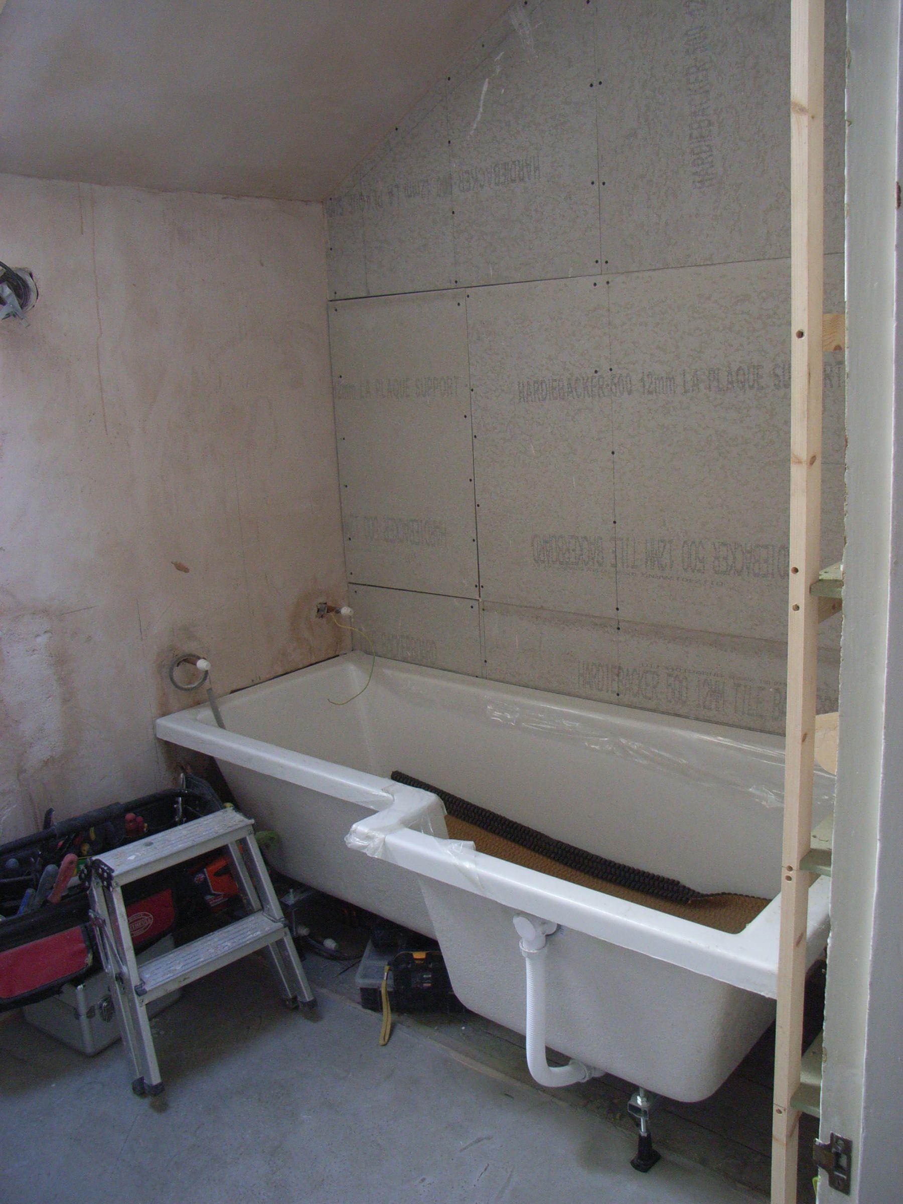 shower bath installation