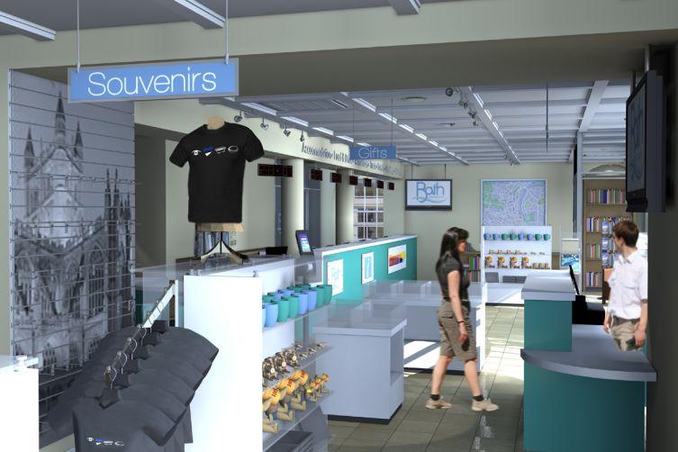 spacious retail shop design