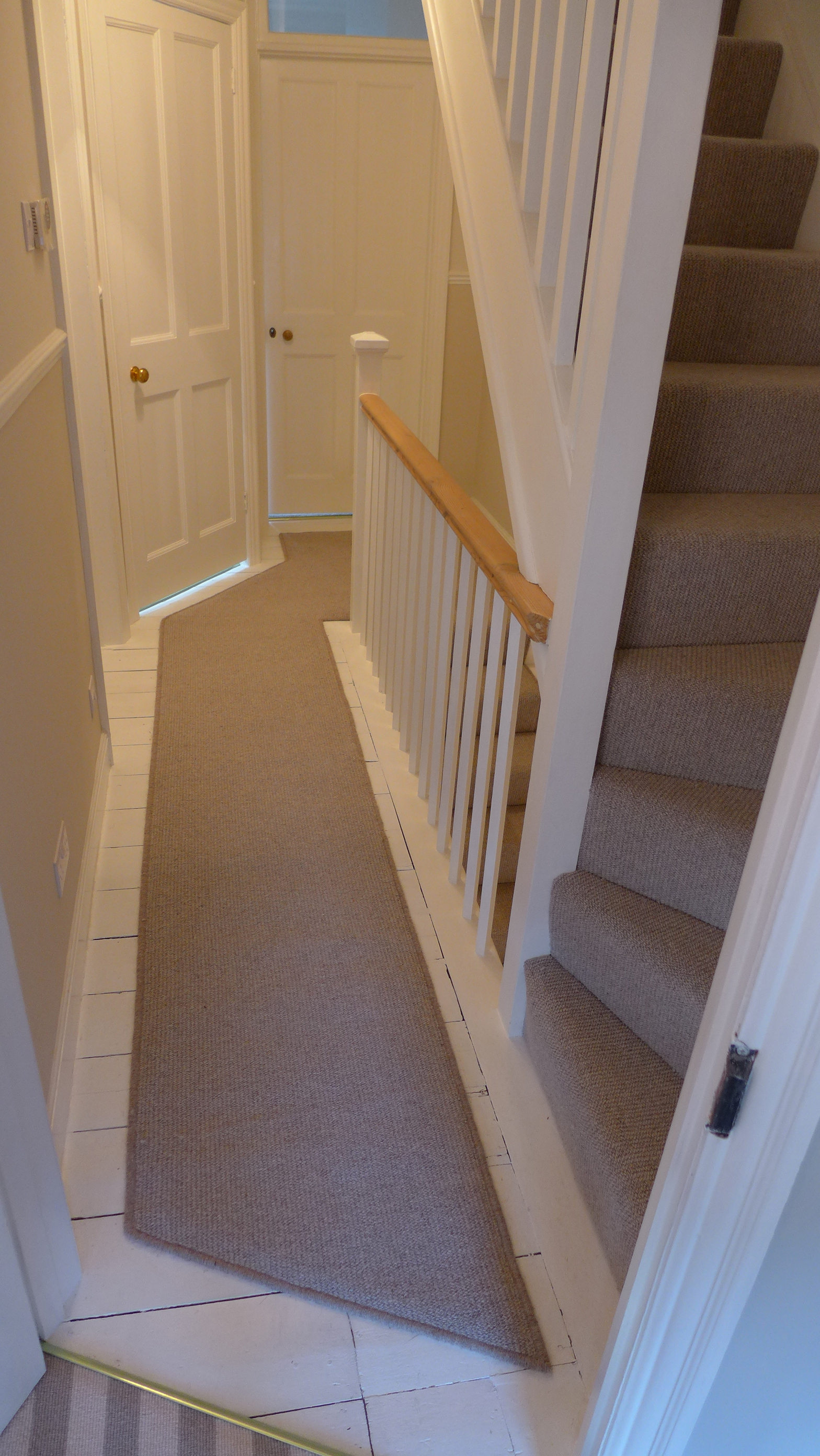 stair runner on landing