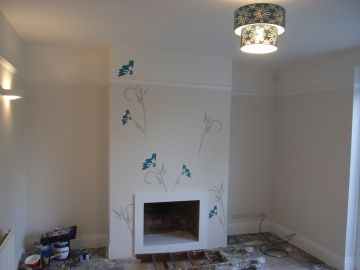 wall being stencilled