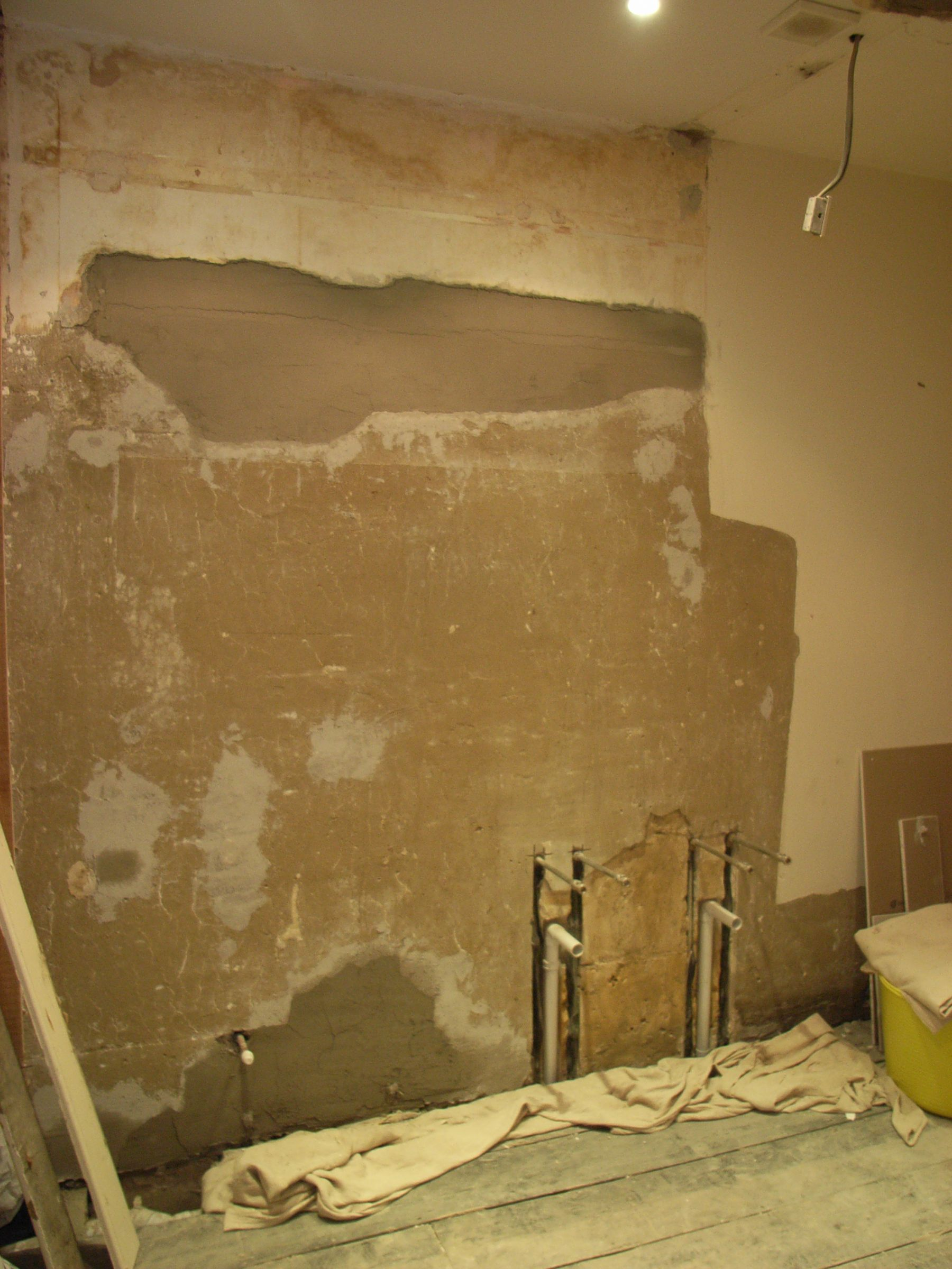 wall patch plastered