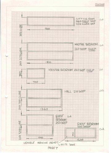 oak veneer box shelves design drawings
