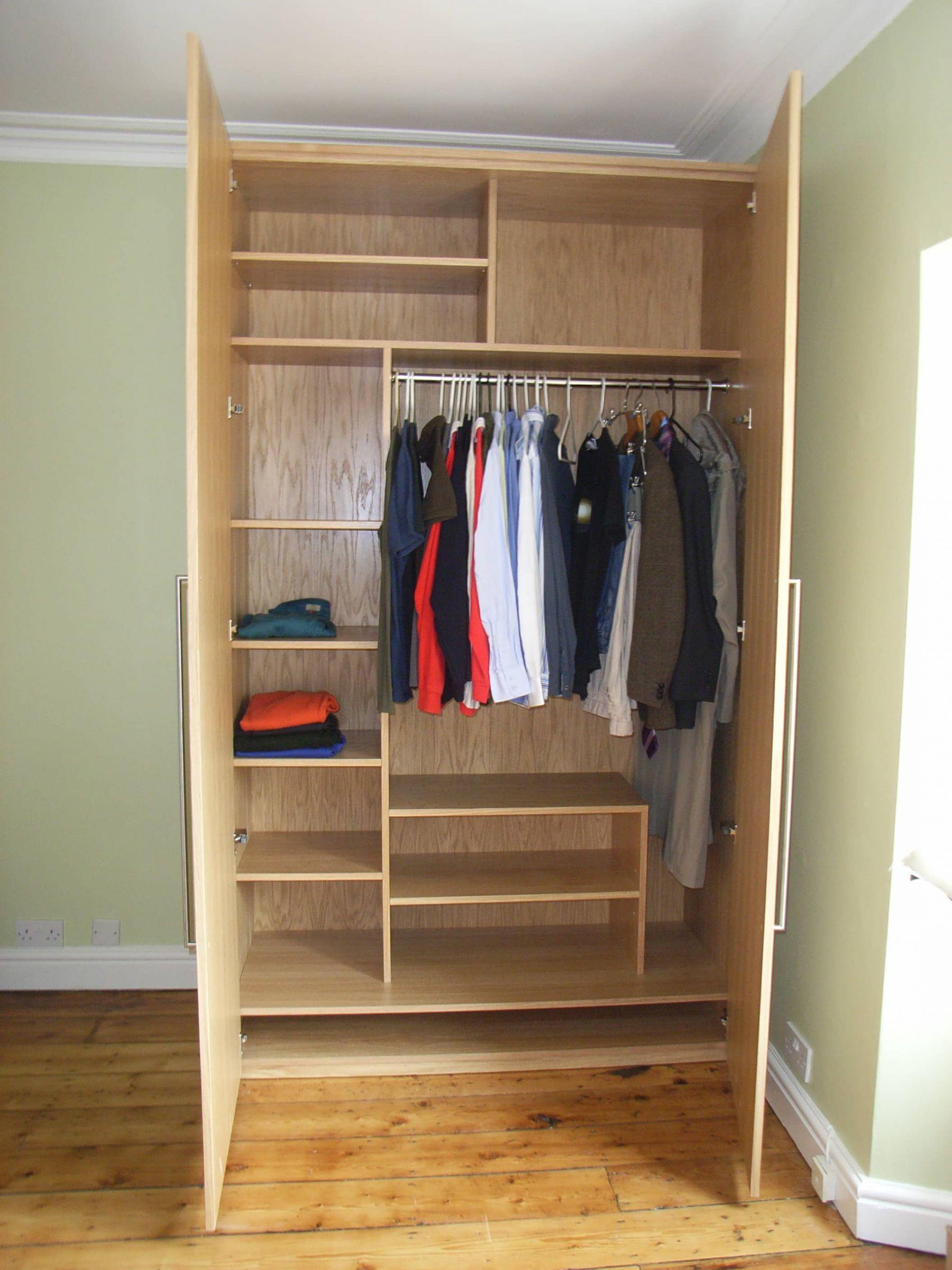 bespoke oak veneered wardrobe