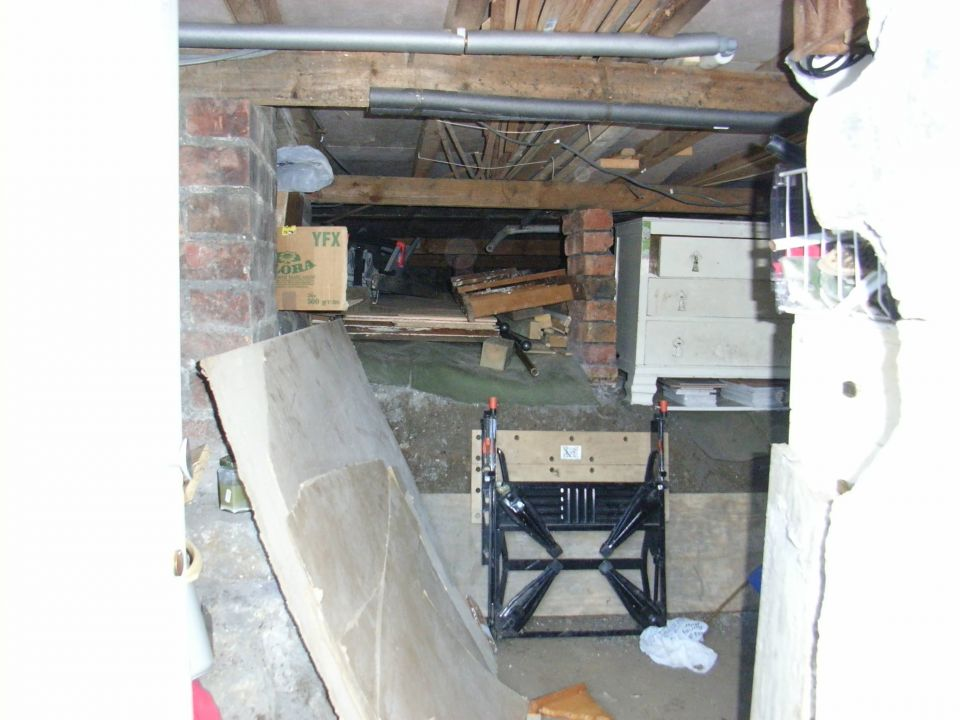 Undercroft before basment conversion