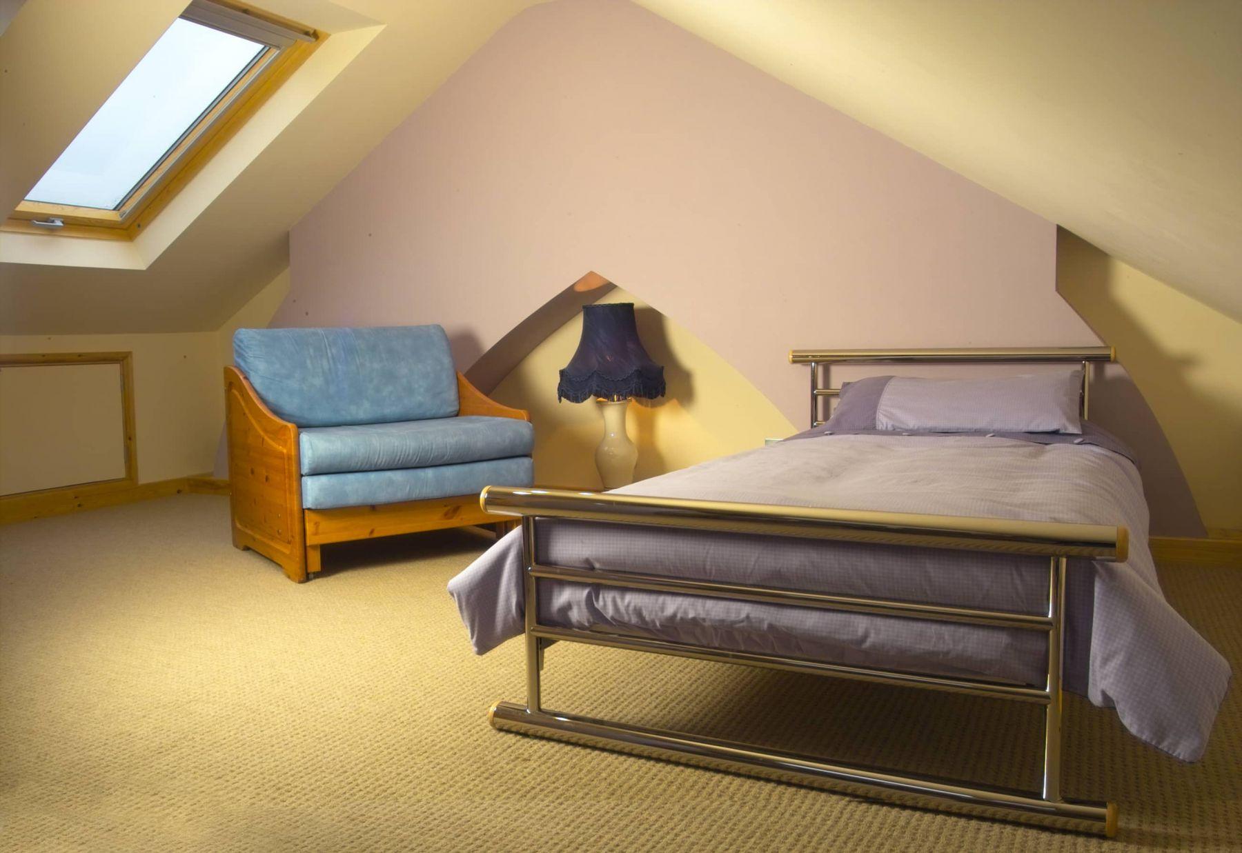 bedroom in attic conversion