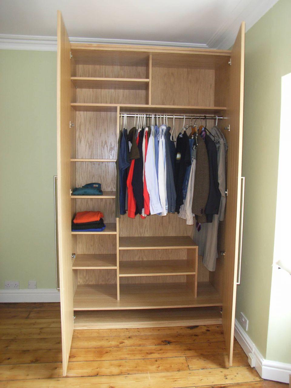 bespoke oak veneer wardrobe