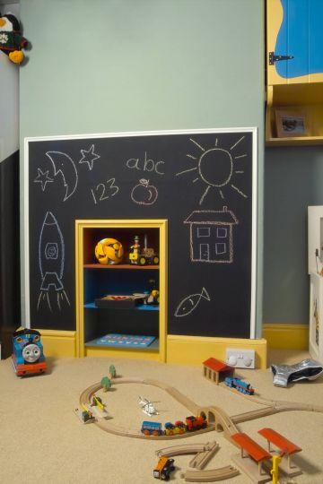 child's blackboard wall