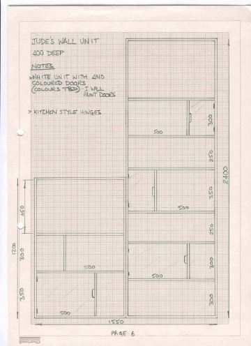 child's wall unit design drawing
