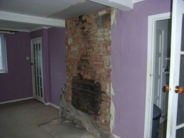 chimney breast removed