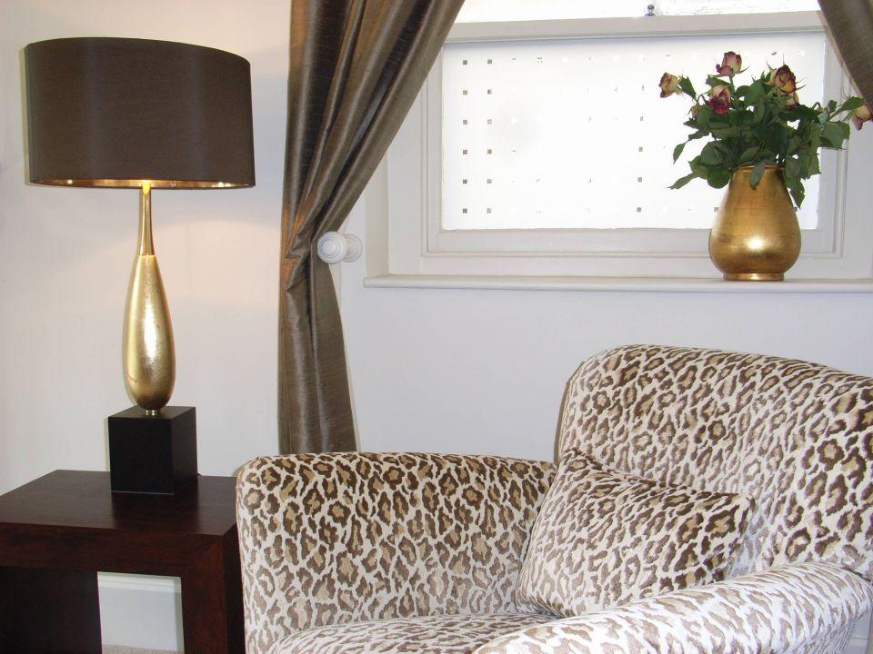 leopard print fabric on armchair