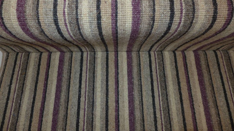 close up of striped carpet