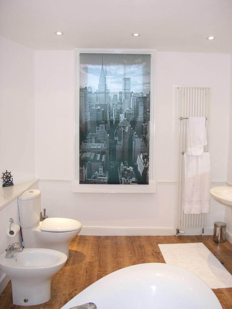 contemporary bathroom in Georgian apartment