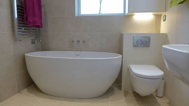 contemporary freestanding bath