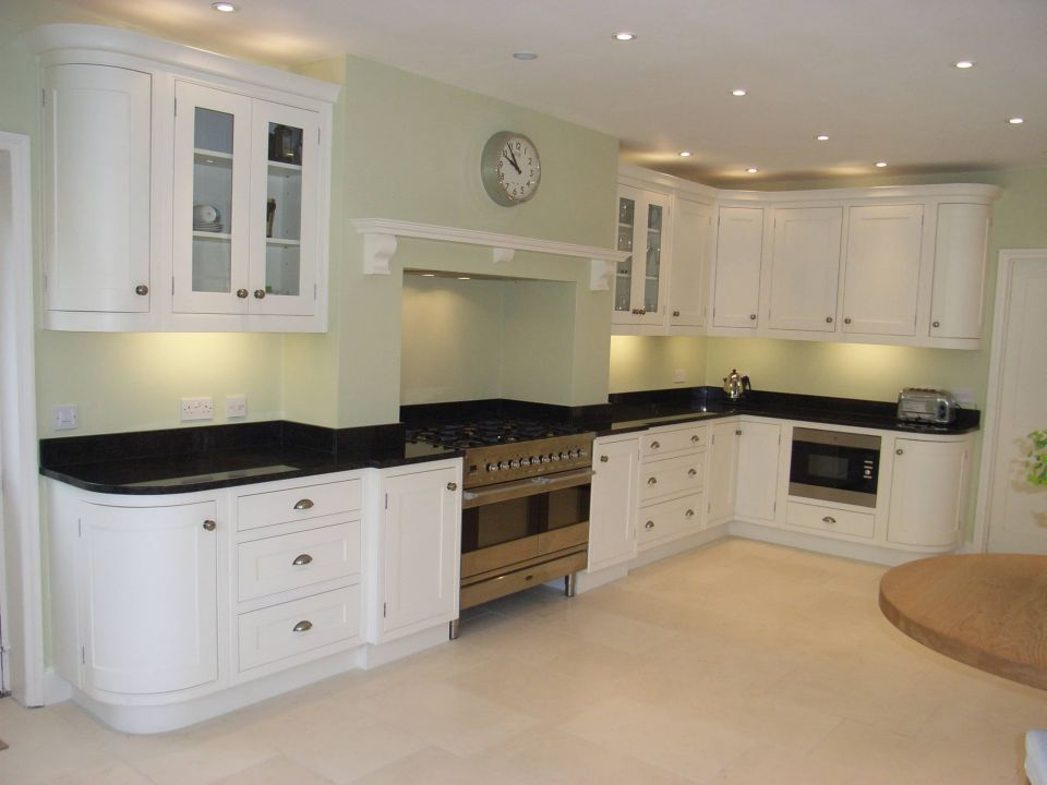 Contemporary Kitchen Design In Bath With White Cabinets And Granite Worktop Part 70
