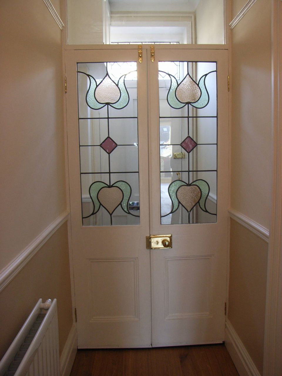 contemporary stained glass doors