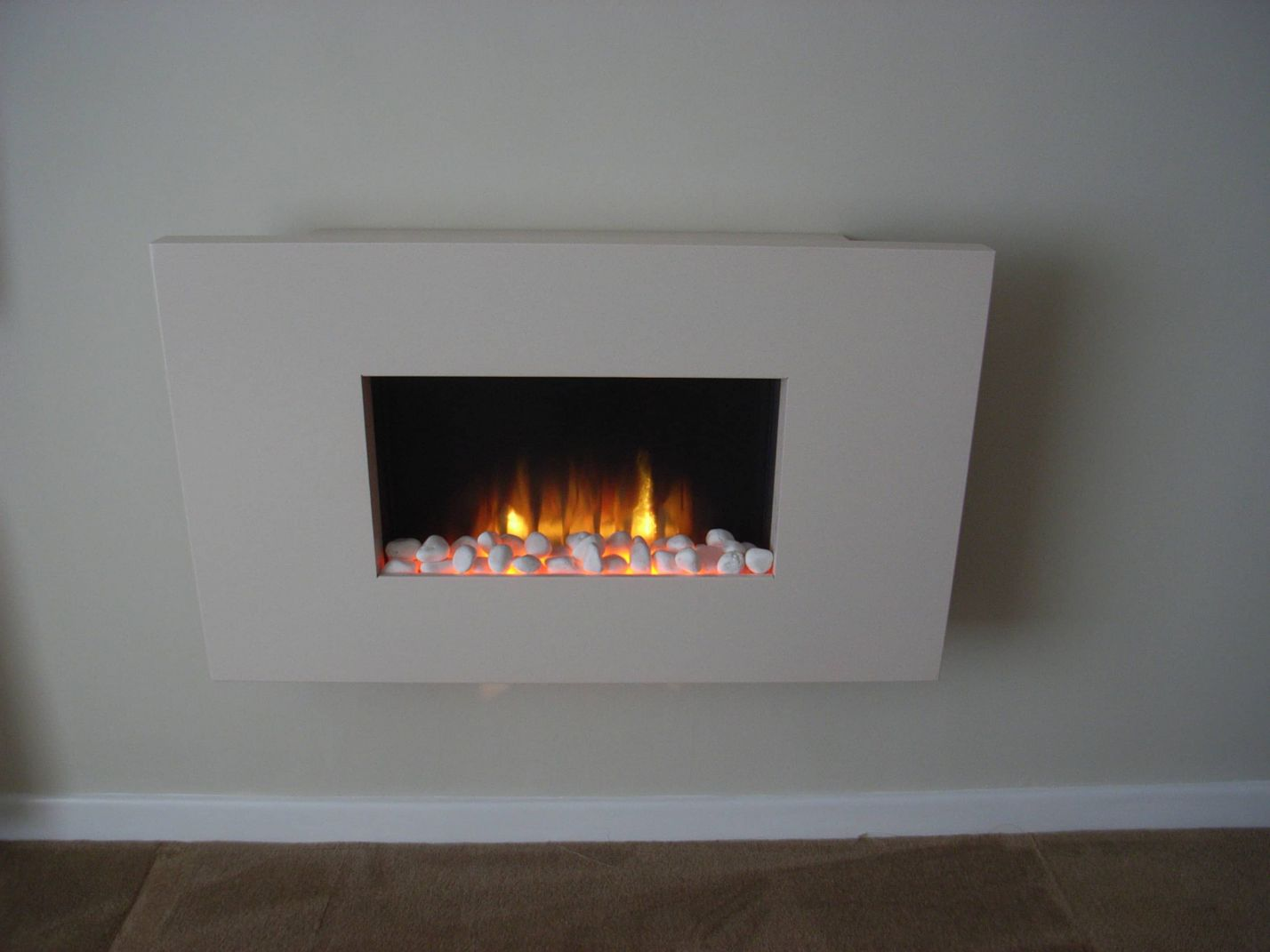 contemporary wall hung electric fire