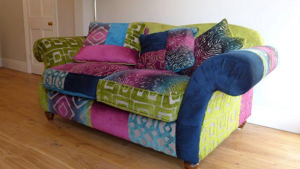 decoration sets off colourful sofa