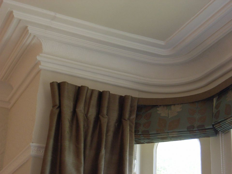 dress curtain with roman blind