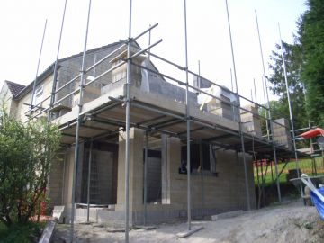 extension under construction