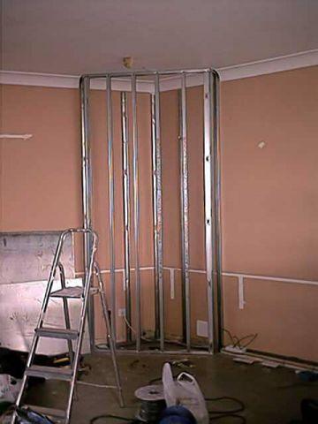 false wall frame for gas fire