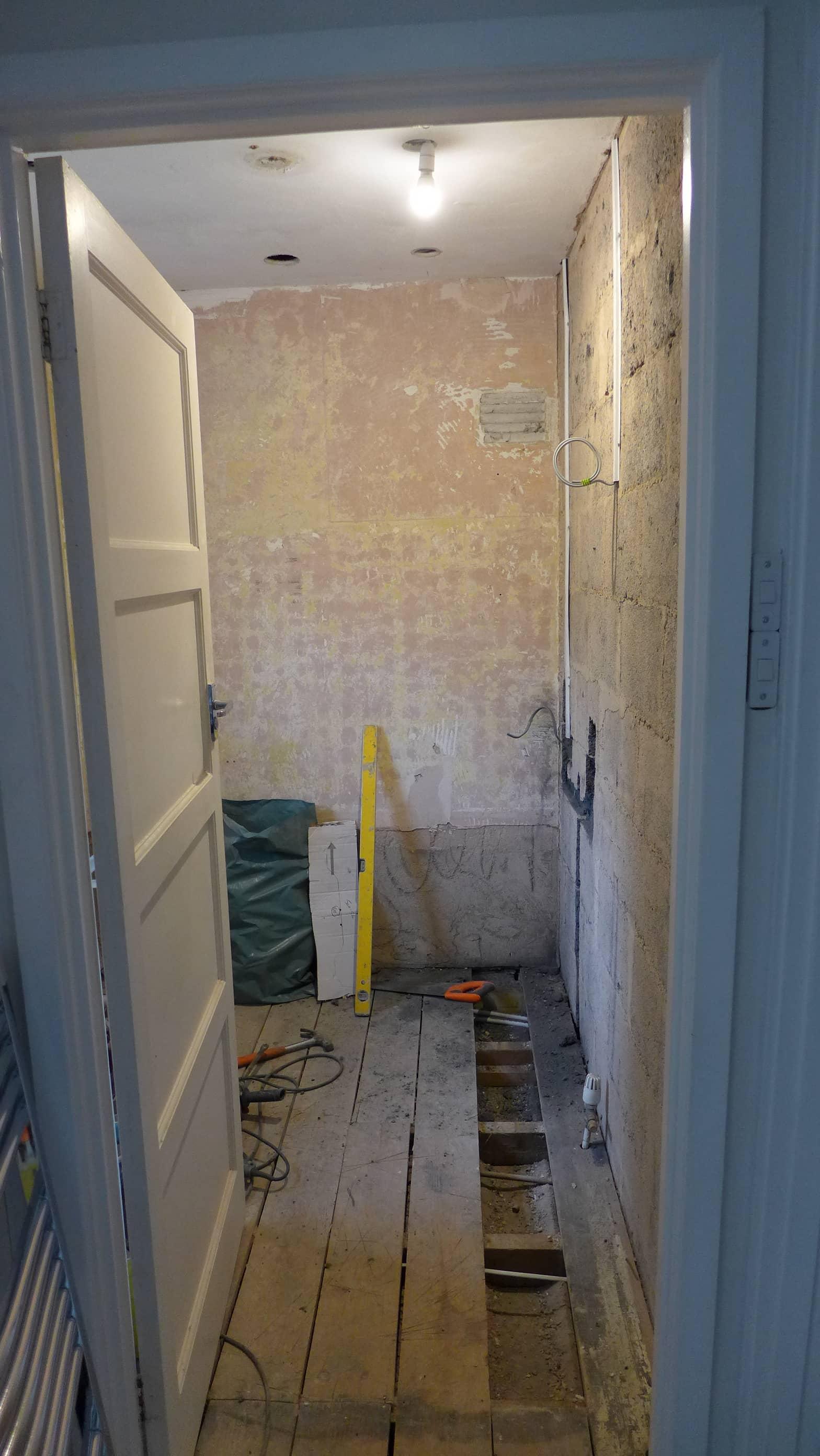 first fix plumbing