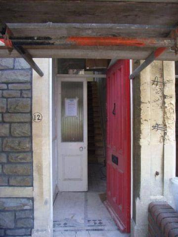 front door before repainting