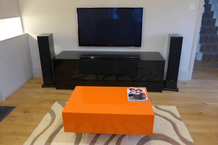 gloss black TV unit