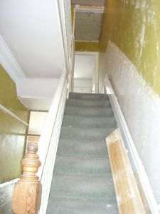hall and stairs before redecoration