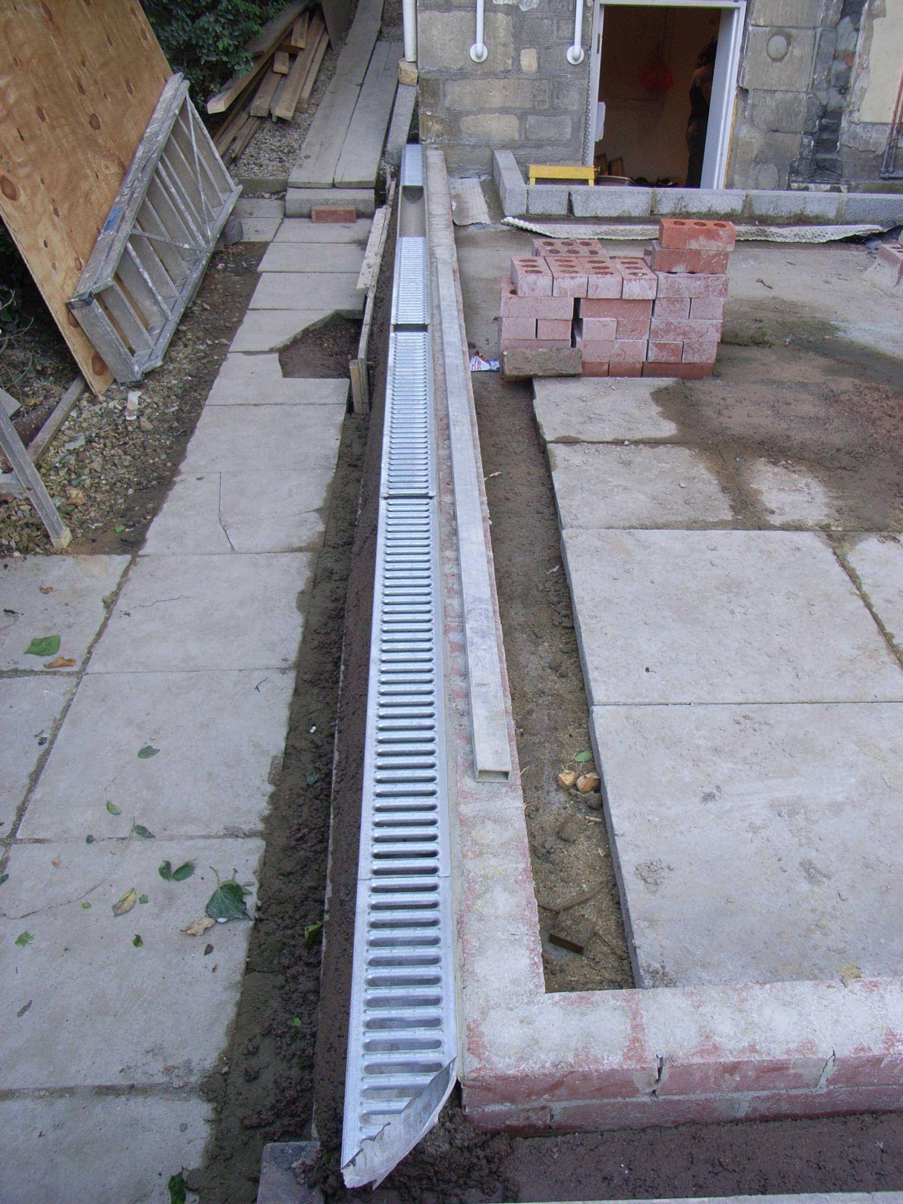 installing aco drain