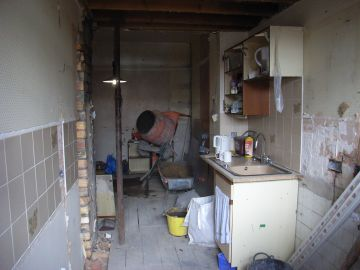 kitchen ripped out