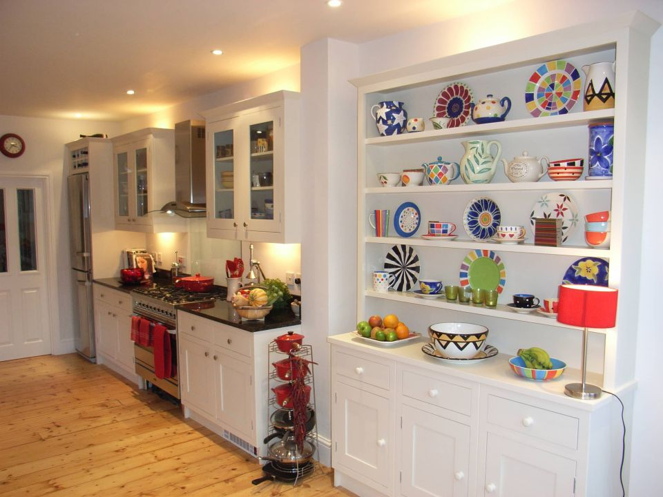 kitchen with colourful accessories